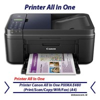 Printer Canon All In One PIXMA E480 (Print/Scan/Copy/Wifi/Fax) (A4)