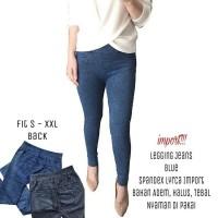 Legging Jeans Blue Bahan Adem