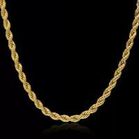 Kalung titanium steel tambang emas gold Pria