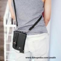 Harga waco9 tas selempang pinggang pria kulit waist bag gadget hp | WIKIPRICE INDONESIA