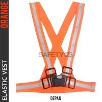Elastic Scotlight Vest Rompi Karet Safety Proyek V Guard Orange