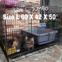 Kandang lipat besi Kucing Kelinci Burung Hamster Sugar glider size L
