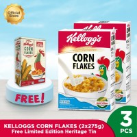 Kelloggs Corn Flakes (2x275g) FREE Limited Edition Heritage Tin
