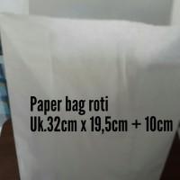 Paper bag uk.besar/kantong kertas untuk roti/fried chicken/snack