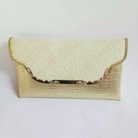DT- 1772 Clutch vinyl Lorena gold M bamper Bahan untuk decoupage