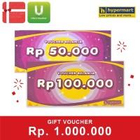 Voucher Hypermart Rp 1,000,000