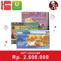 Voucher KFC Rp 2.500.000