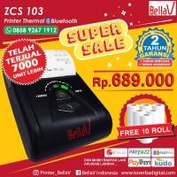Printer Bluetooth BellaV zcs 103 bisa print gambar, QR code dan struk