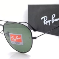 Kacamata Rayban Aviator Diamond Hard 3026 hitam lensa hijau Tokopedia