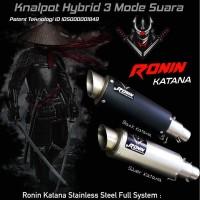 Knalpot Hybrid 3 Suara Ronin Katana sport/matic 150cc Fullset