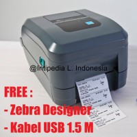 PAKET MURAH PRINTER BARCODE ZEBRA GT820, RIBBON ZEBRA & LABEL 8X3