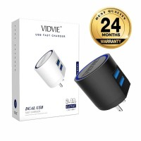 NEW Vidvie 2 USB Port Micro Charger USB Cable Included Micro PLM301
