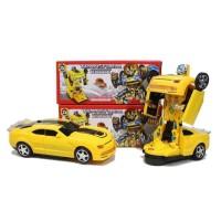 Mainan Anak Laki Cowok Boys Mobil Transformer Bumble Bee Car Bisa Jadi