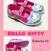 sepatu anak perempuan Hello kitty KABOCHA pink biru