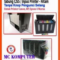 Tabung infus 4 warna Box Hitam Printer Canon HP Epson Dengan Kunci