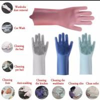 Sarung tangan silikon multifungsi Scrubber gloves