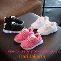 DARI JKT Sepatu Baby Sneakers Anak Dengan Lampu LED Lovely Soft