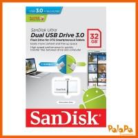 SANDISK Ultra Original Dual USB 3.0 Drive OTG 32GB - White