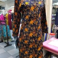 Dress Batik Motif Full bambu Terbaru