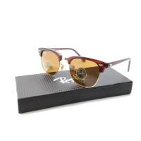 Kacamata Rayban Clubmaster Diamond Hard full coklat lensa ka Tokopedia