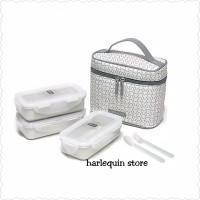 Kotak Makan Box Makan Set Food Container - Lock n Lock isi 3 pcs