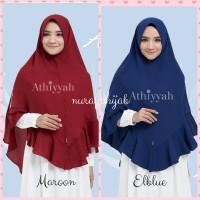 Khimar Attina L by Athiyyah Hijab Syari Formal Kuliah Kerja Kantor