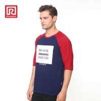 Ramayana - RAF - Kaos Tshirt Raglan Black Squad Biru