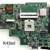 BARU motherboard ASUS K43SD K43E A43E REV:4.1 AVGA NVIDIA DDR3
