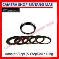 Harga step up step down ring adapter lens filter banyak | WIKIPRICE INDONESIA