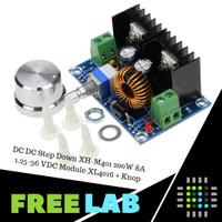 DC DC Step Down XH-M401 200W 8A 1.25-36 VDC Module XL4016 + Knop