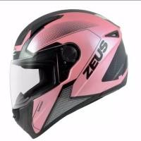 Helm Zeus 811 AL6 Pink + Bonus Dark Smoke Visor