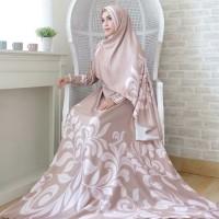 Gamis Wanita Syari Set Inayah Brown