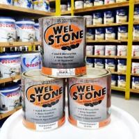 Cat Batu Alam Welstone Black Doff 0.9 Liter