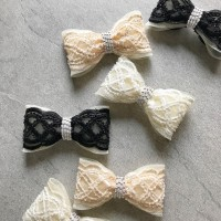 SCALLOP BEADED BOW // SWIPE TO SEE COLORS