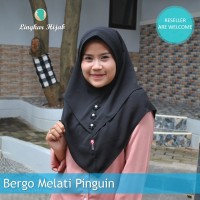 jilbab instan bergo melati pinguin harga grosir murah supplier