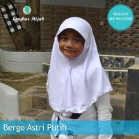Jilbab Sekolah Anak Warna Putih Size M Harga Grosir Murah