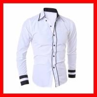 Harga baju kemeja pria lengan panjang cowok slimfit laki laki hem | Hargalu.com