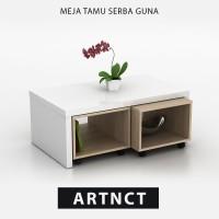 Pro Design Small Table WHITE GL-SONOMA OAK (ARTNCT)