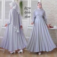 Jual Gilda Gamis Maxi Dress Abaya Brukat Premium Baju Pesta wanita Murah
