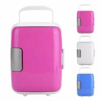 Kulkas Mini Pendingin + Penghangat Low Watt / Mini Car Refrigerator 4L