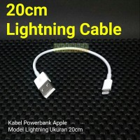 Kabel Powerbank Apple iPhone 5 6 iPad iPod Tipe Lightning Pendek 30cm