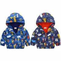 Baby Boys Hooded Jackets Outerwear Coat / jacket Hoodie Animal Kids