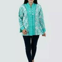 Blouse batik sogan / Baju batik wanita / batik kantoran / kemeja kerja