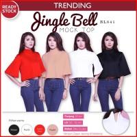 Harga jingle bell mock top turtleneck blouse atasan wanita | antitipu.com