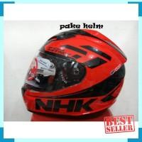 HELM NHK GP 1000 RACING INSTINCT BLACK RED DOUBLE VISOR GP1000