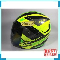 HELM MDS R3 SPORT RACE FLUO YELLOW GREEN FLUO HALF FACE