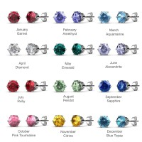 Her Jewellery Birth stone Earrings - Anting Crystals from Swarovski®