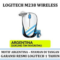 Mouse Wireless Logitech M238 Fan Collection World Cup - Argentina