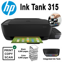 PRINTER HP Ink Tank 315 All-In-One NEW PROMO GARANSI