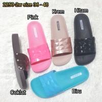 2250-2w sendal sandal cewek kop luofu karet import